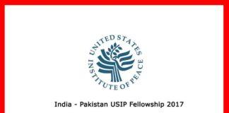 India Pakistan USIP Fellowship in US 2017