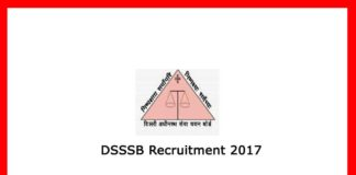 DSSSB Recruitment 2017