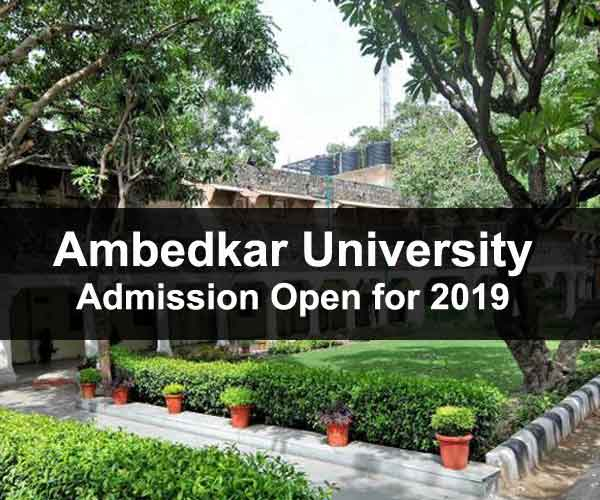 Ambedkar University UG admission 2019