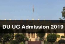 Delhi University UG Admission 2019