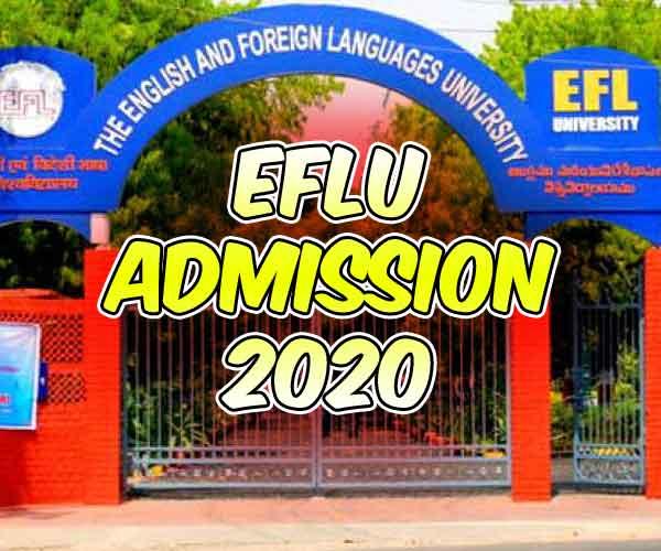 EFLU Admission 2020