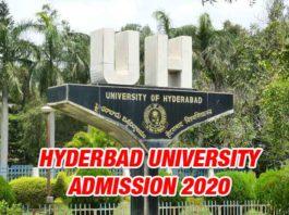 Hyderabad University Admission 2020