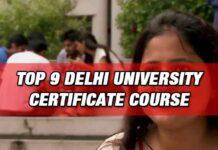 Delhi University Certificate Courses