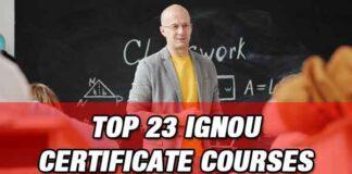 Top IGNOU Certificate Courses